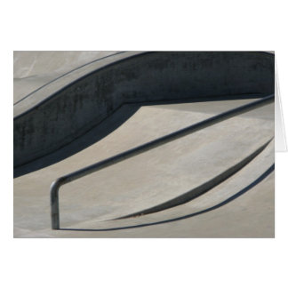 Skate Park Black and White Invitation Card