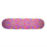 Skate Punk Princess Pink Mandala Skateboard