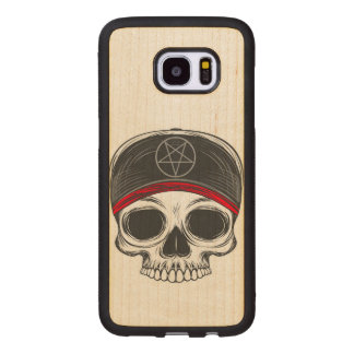 Skate Rock Skull Wood Samsung Galaxy S7 Edge Case
