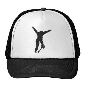 Skate Skater Sports Park Boys Fun Outdoors Shadow Mesh Hat
