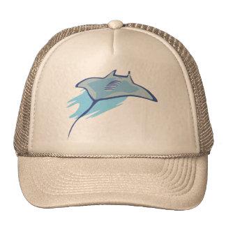 Skate Skates Rays Batoidea Ocean Art Blue Fish Trucker Hats
