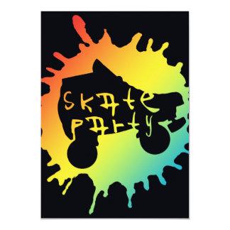 skate splatz party invitation