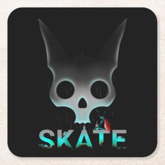 Skate Urban Graffiti Cool Cat Square Paper Coaster