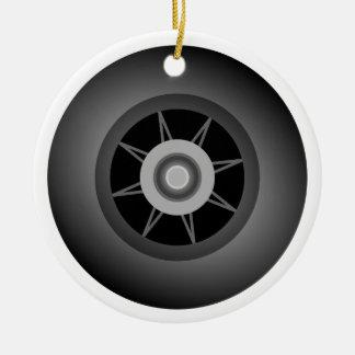 Skate Wheel Ceramic Ornament