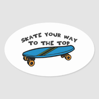 Skate Your Way Oval Sticker