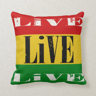 Skateboaders Live Live Live Throw Pillow