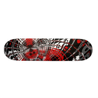 Skateboard Abstract Red Black 4