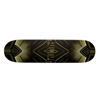 Skateboard Art Deco Black Gold