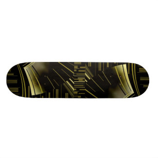 Skateboard Art Deco Black Gold 2