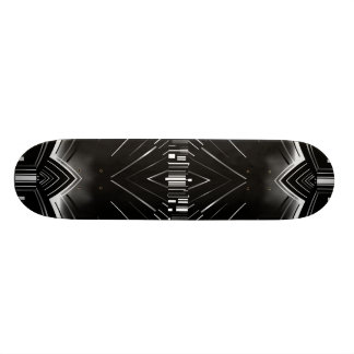 Skateboard Art Deco Black White