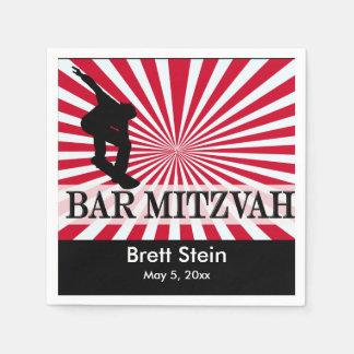 Skateboard Bar Mitzvah theme Disposable Serviettes