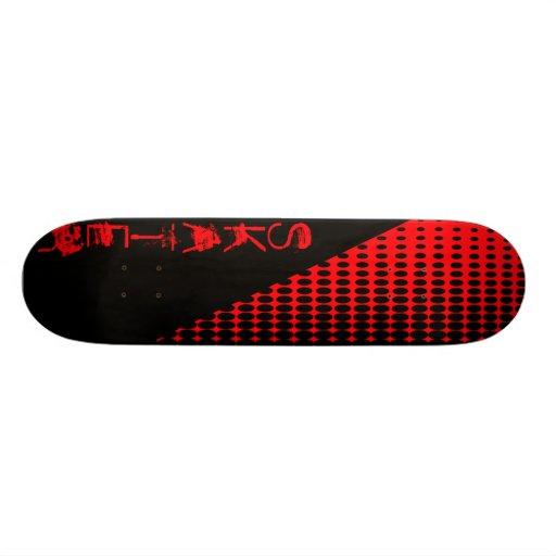 Skateboard blk-red