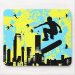 skateboard. board with birds. mouse mats