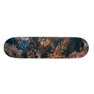 skateboard brown flowers