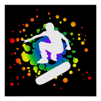 skateboard : bubbles : poster