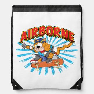 Skateboard Cat Drawstring Knapsack Drawstring Bags
