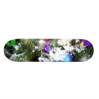 Skateboard - Christmas Glow & Faux Snow
