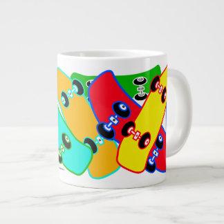 Skateboard Colors Specialty Mugs 20 Oz Large Ceramic Coffee Mug