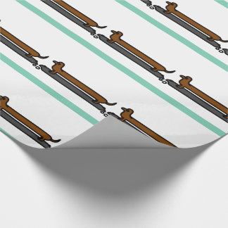 Skateboard dachshund dog wrapping paper