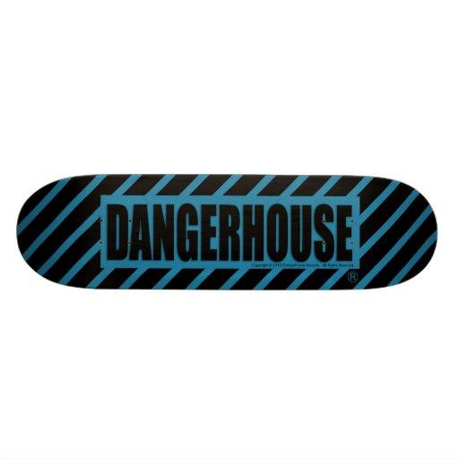 Skateboard Dangerhouse Logo LIGHT BLUE