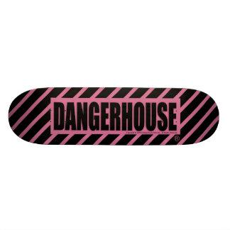 Skateboard Dangerhouse Logo PINK