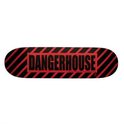 Skateboard Dangerhouse Logo RED