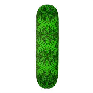 Skateboard Deck; 3D Fractal Design, Toxic Green