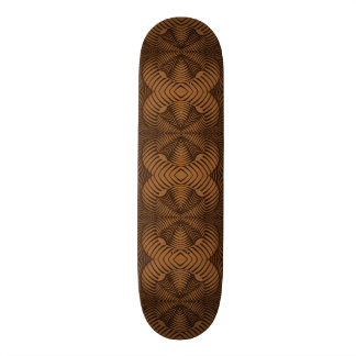 Skateboard Deck; 8.5 inches. 3D Pattern 01. Tan