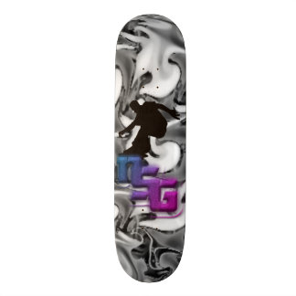 Skateboard deck ISD black and white