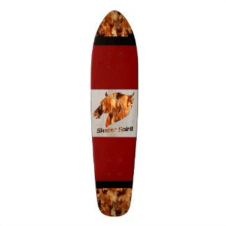 "Skateboard deck ""Skater Spirit"" with fire"