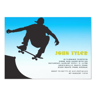 Skateboard Dude Invitation