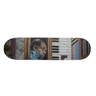 Mural skateboard decks for Duke ellington mural