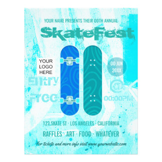 Skateboard Event Advertisement add photo and logo Flyer