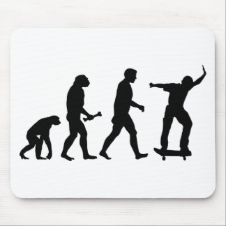 Skateboard Evolution Mouse Pad