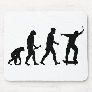 Skateboard Evolution Mouse Pads