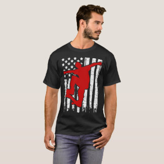 SKATEBOARD FLAG AMERICAN T-Shirt