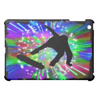 Skateboard Flip Out in Fireworks iPad Mini Cover