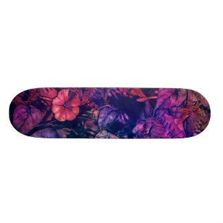 skateboard flowers purple