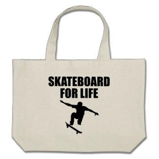 Skateboard For Life Tote Bag
