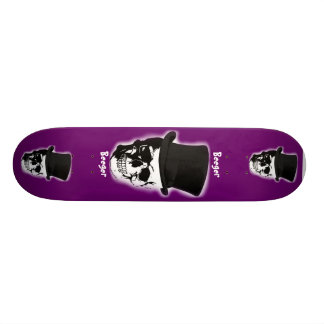 Skateboard - Ghostly Skull with Top Hat
