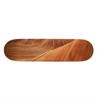 Skateboard- Hard Rock Maple with wood color design Skate Board