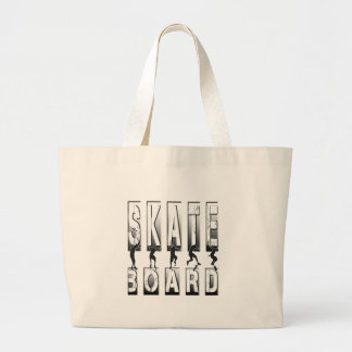 skateboard jumbo tote bag