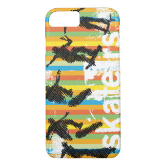 Skateboard Jump Sequence Orange Stripes iPhone 7 Case