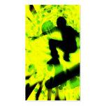 skateboard light explosion business card templates