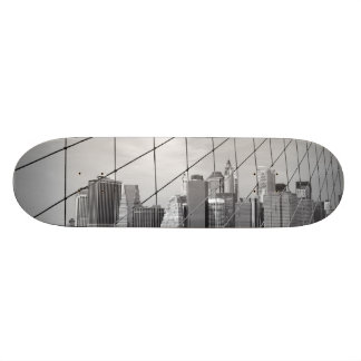Skateboard - NYC Skyline in B&W