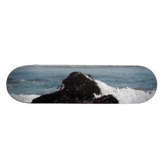 Skateboard ocean