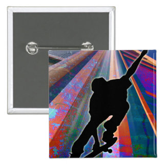 Skateboard on a Building Ray Buttons
