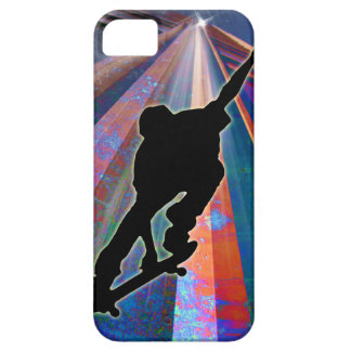 Skateboard on a Building Ray iPhone 5 Case
