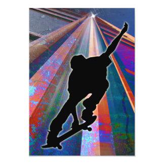 "Skateboard on a Building Ray 5"" X 7"" Invitation Card"