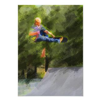 "Skateboard on a Ramp 5"" X 7"" Invitation Card"